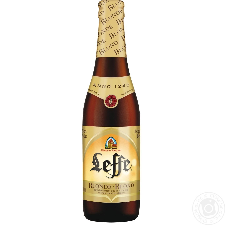Купить BBQ, Пиво Leffe Blonde світле 6, 6% 0, 33л