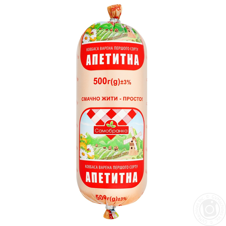 Купить Ковбаса і сосиски, Ковбаса Самобранка Апетитна варена перший сорт 500г