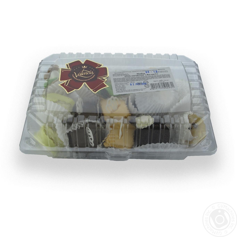 Купить Тістечка і торти, Набір міні-тістечок Valencia Асорті 14шт 315г