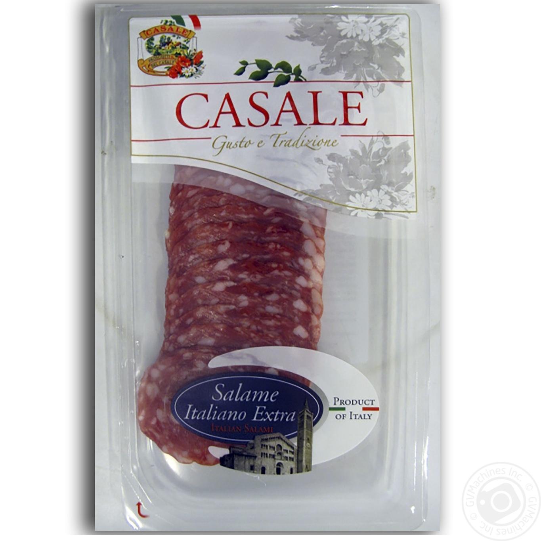 Купить Колбаса Casale Салями итальянская экстра сыровяленая нарезка 80г