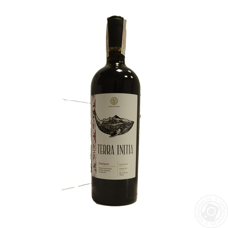 Купить Вино Terra Initia Saperavi червоне сухе 13, 5% 0, 75л