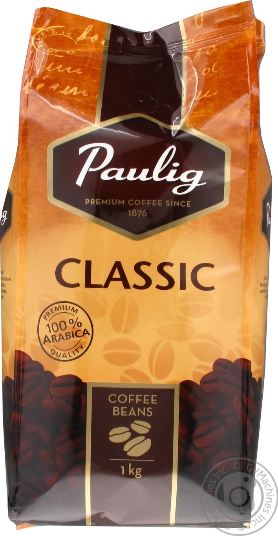 Купить Кофе Paulig Classic в зернах в пакете 1кг