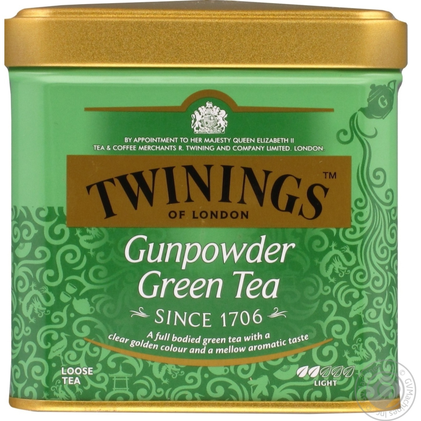 Купить Чай Twinings зеленый байховый ганпаудер 100г