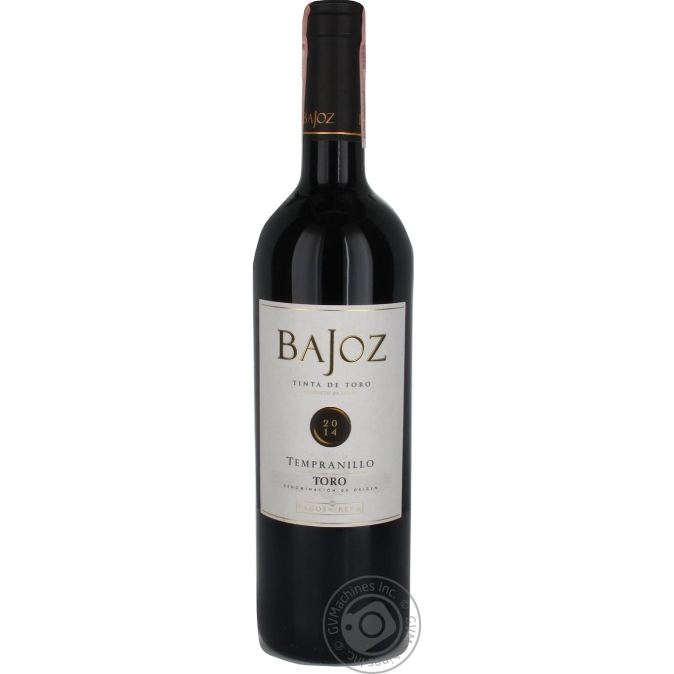 Купить Алкоголь та енергетики, Вино Bajoz Tempranillo Toro червоне сухе 13, 5% 0, 75л
