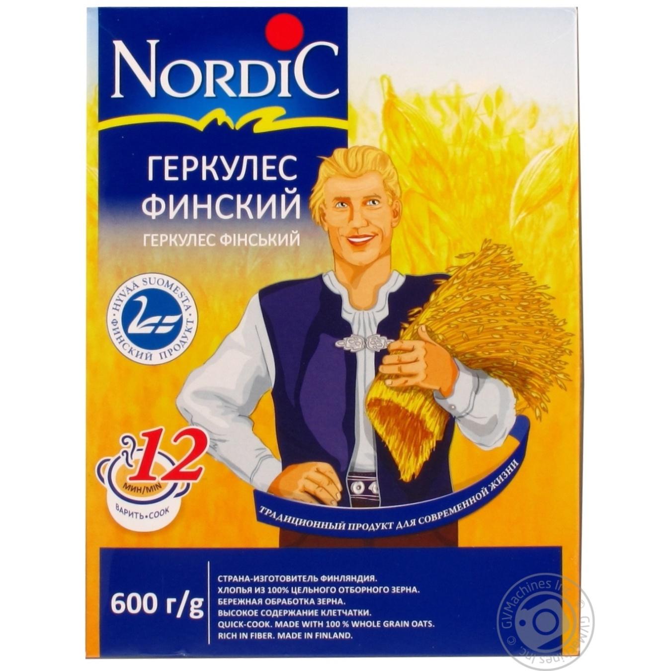 Купить Хлопья овсяные Nordic Геркулес финский 600г
