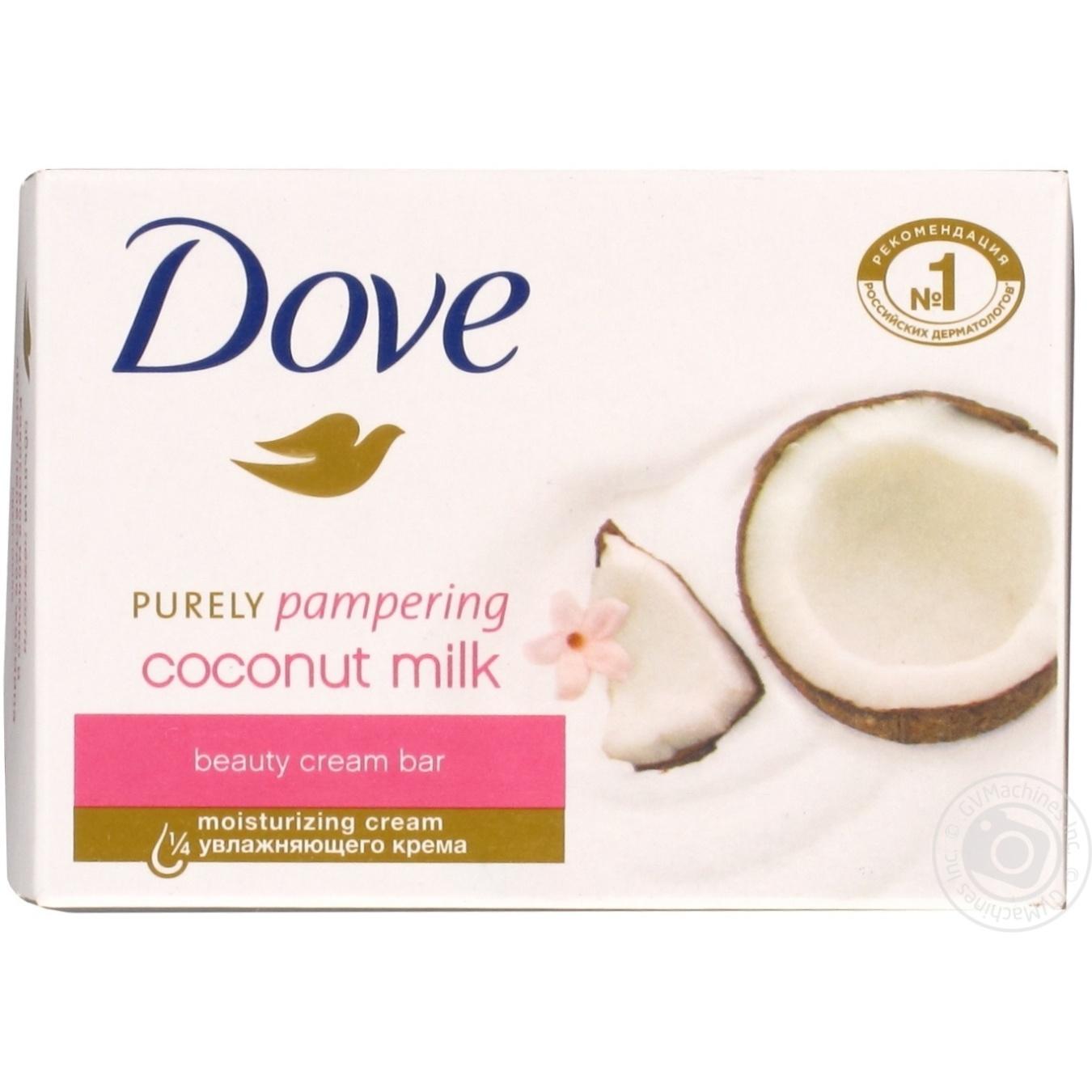 Купить Dove Крем-мыло Кокосовое молочко и лепестки жасмина 135г