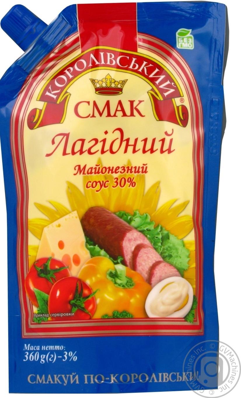 Купить Майонезный соус Королевский вкус Нежный 30% 360г