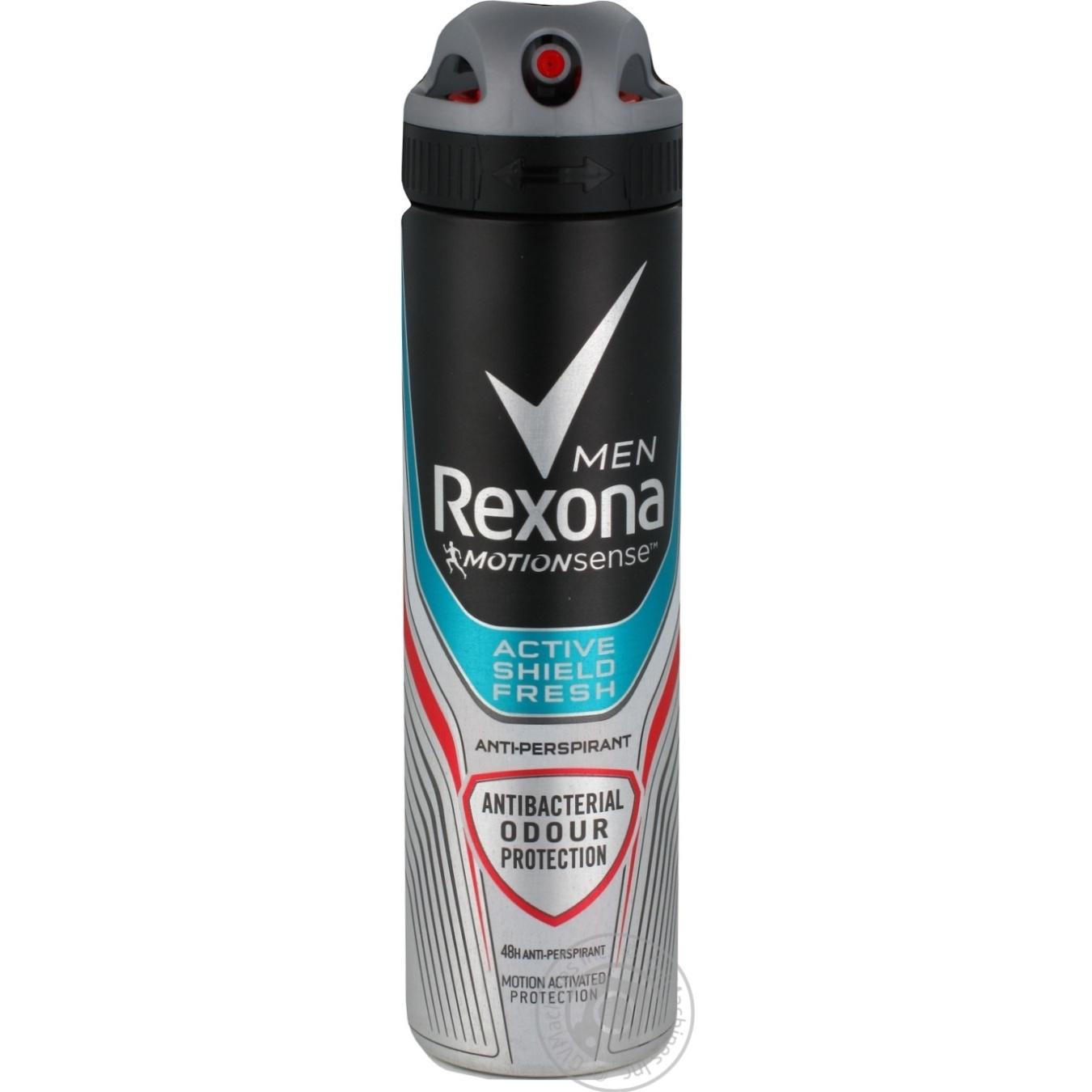 Купить Дезодорант Rexona Men спрей антибактериальная свежесть 150мл
