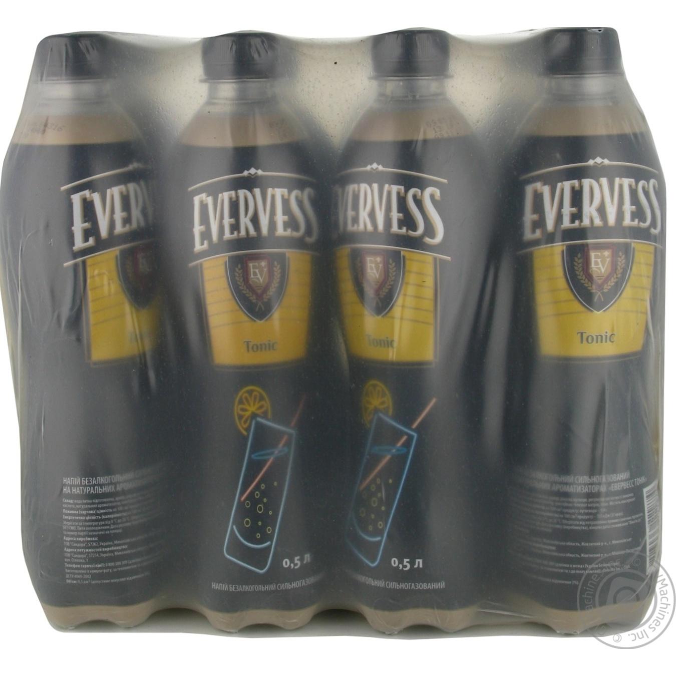 Купить Солодка вода, Напій Evervess тонік безалкогольний сильногазований 0, 5л