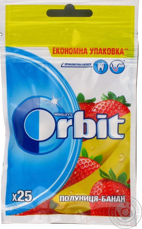 Купить Резинка жевательная Orbit Клубника-Банан 35г
