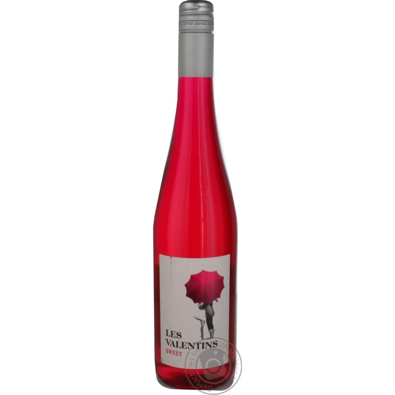 Купить Вино Les Valentins розовое полусладкое 0, 75л