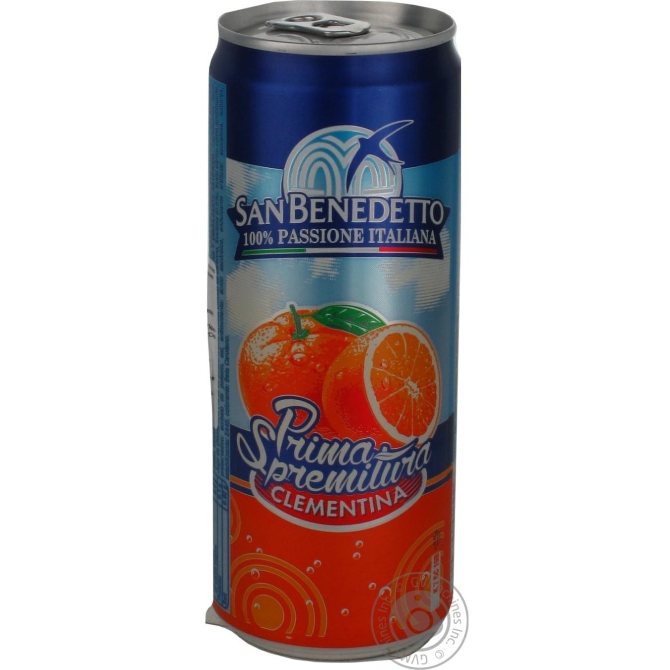 Купить Солодка вода, Напій San Benedetto газований клементин 0, 33л