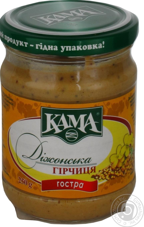 Купить Горчица Кама Дижонская острая 250г