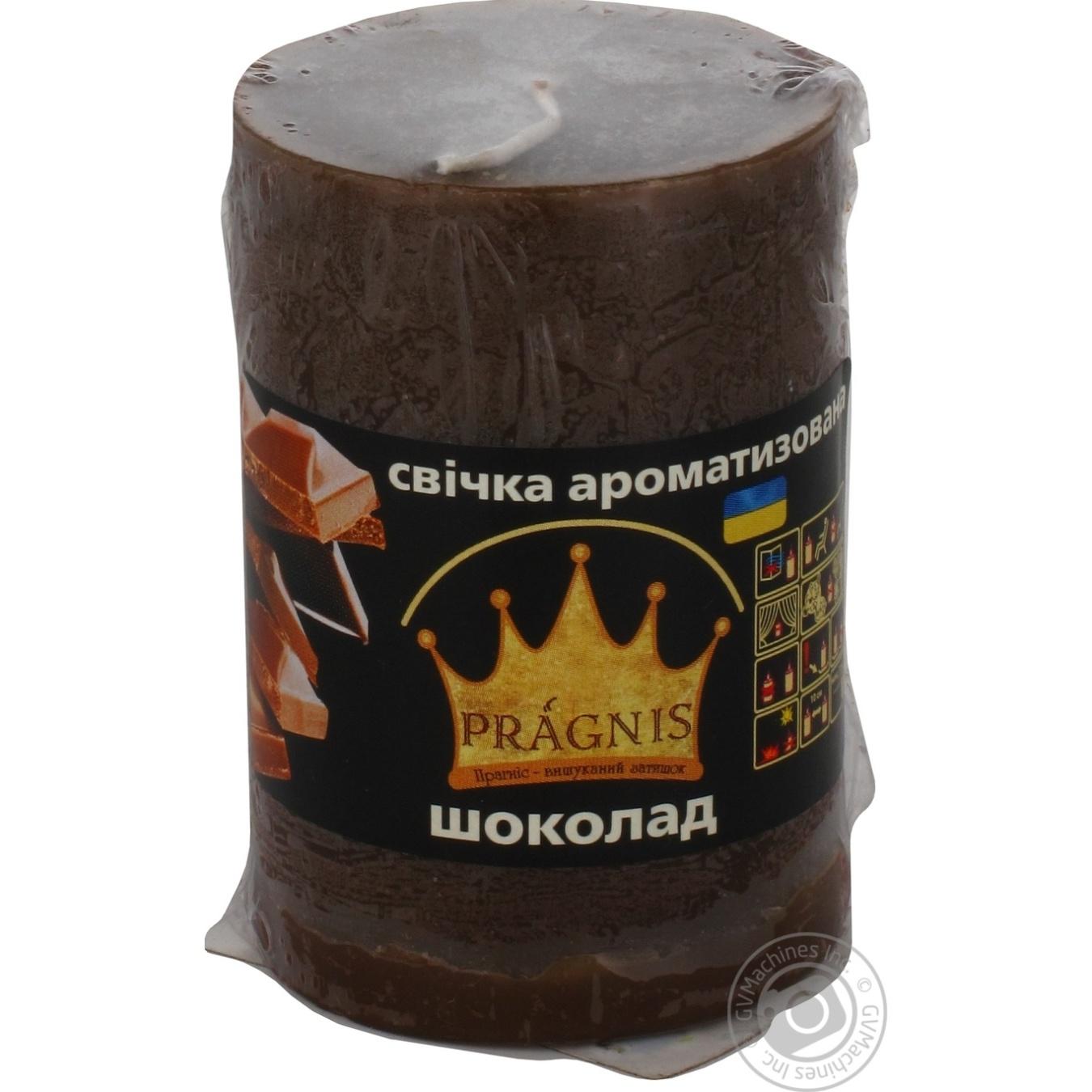 Купить Свеча Pragnis цилиндр шоколад 55х8см