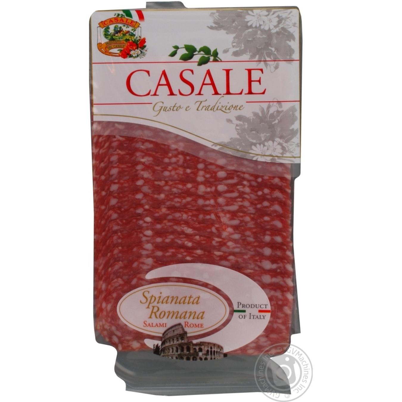 Купить Ковбаса Casale Spianata Romana салямі римська сиров'ялена нарізка 80г