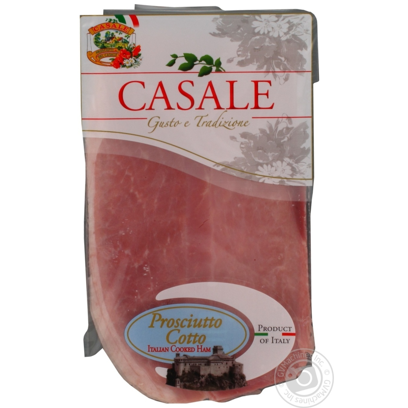 Купить М'ясні делікатеси, Шинка Casale Cotto італійська варена нарізка слайсами 80г