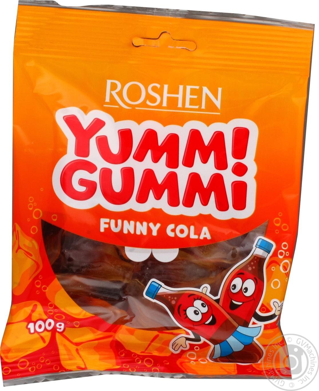 Купить Конфеты желейные Roshen Yummi Gummi Funny Cola 100г