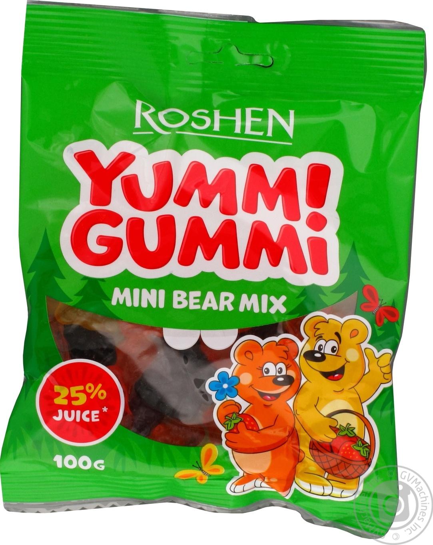 Купить Конфеты желейные Roshen Yummi Gummi Mini Bear Mix 100г
