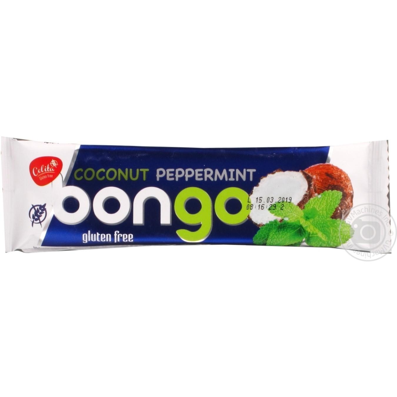 Купить Батончик Bongo Кокос-Мята в темной глазури 40г