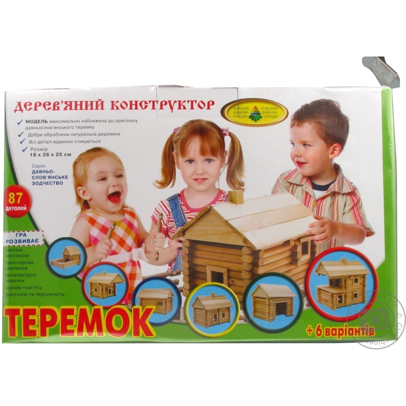 Купить ДЕРЕВ КОНСТР ТЕРЕМОК 74 ДЕТ