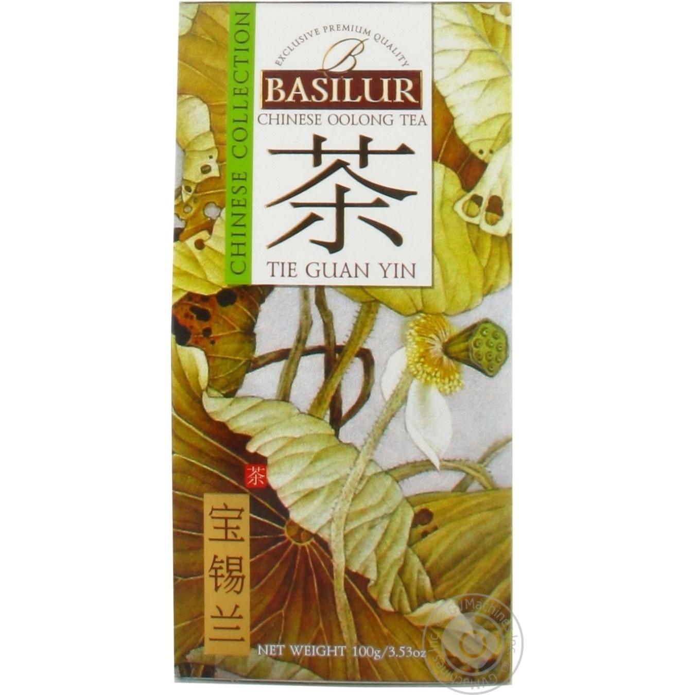 Купить Чай Basilur зеленый китай тегуань 100г