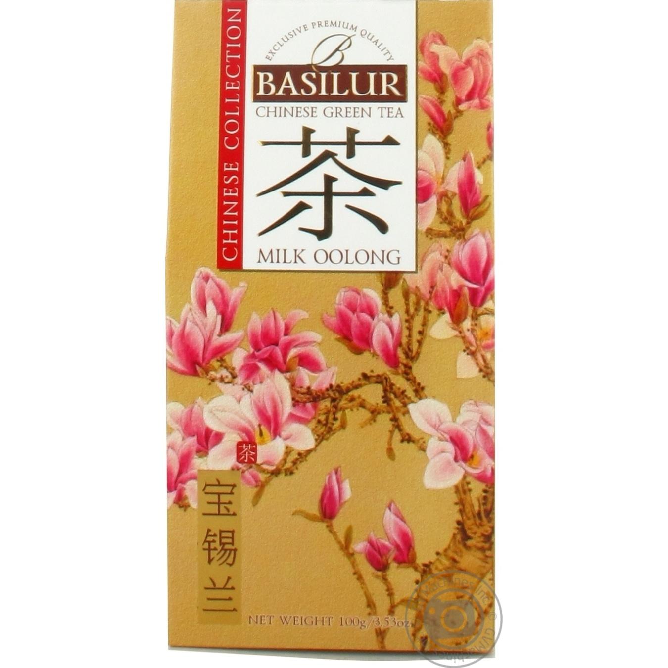 Купить Чай Basilur зеленый китай milk oolong 100г