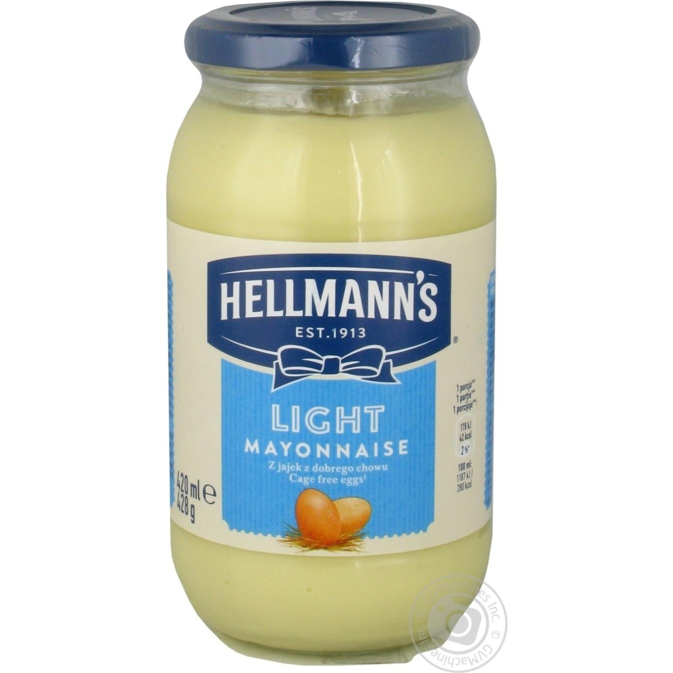 Купить Майонез Hellmann's Легкий 26% 420мл