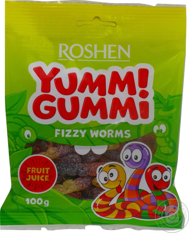 Купить Конфеты желейные Roshen Yummi Gummi Fizzy Worms 100г
