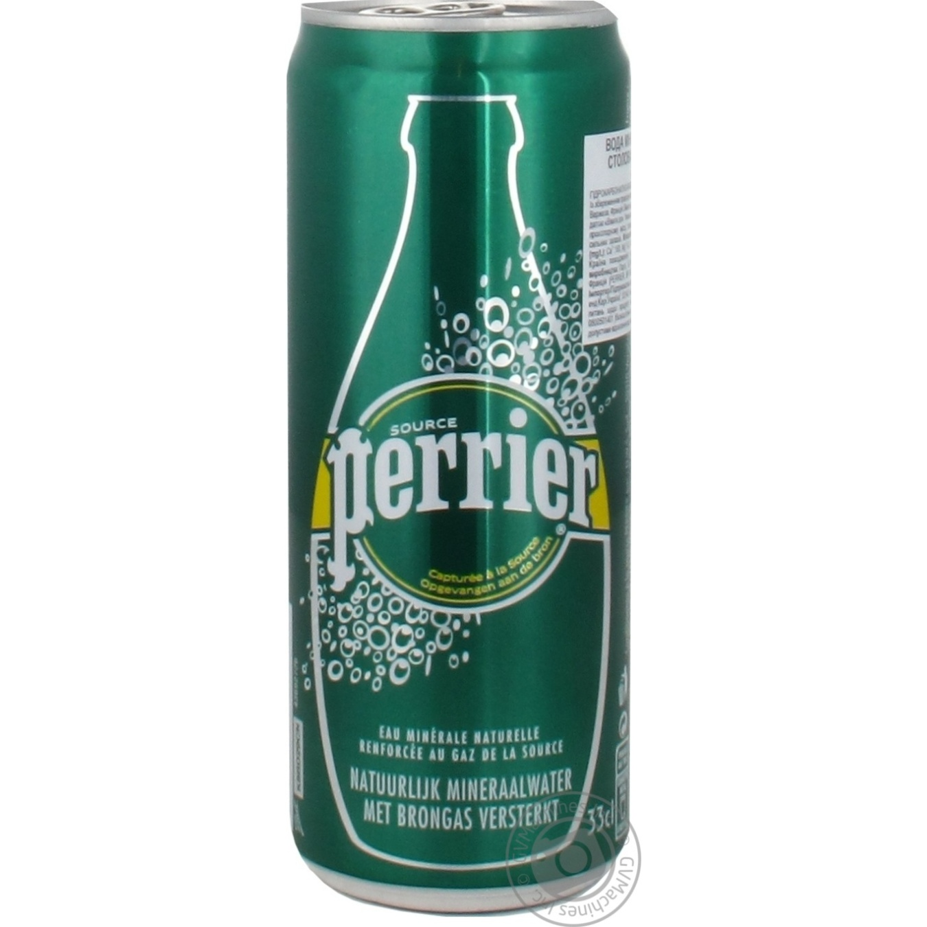 Купить Вода Perrier минеральная сильногазированная ж/б 0, 33л