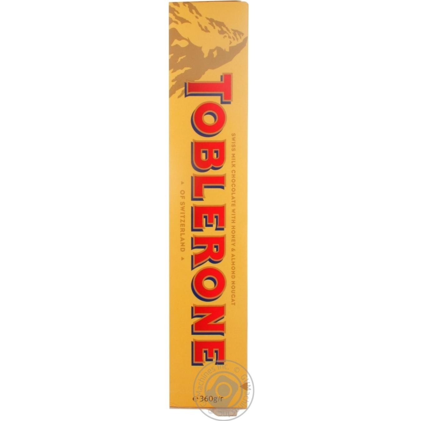Купить Anniversary, Шоколад молочний Toblerone з медово-мигдальною нугою 360г