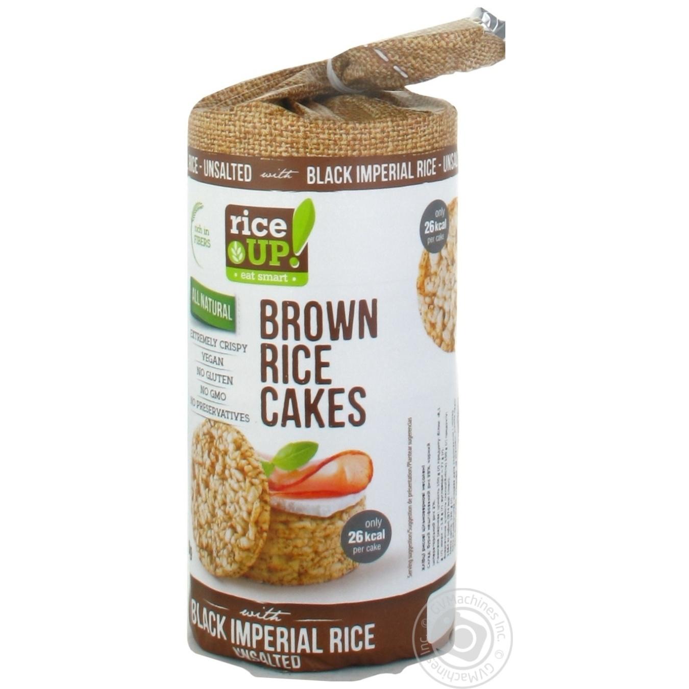 Купить Хлібці рисові Rice Up! цільнозернові несолені 120г