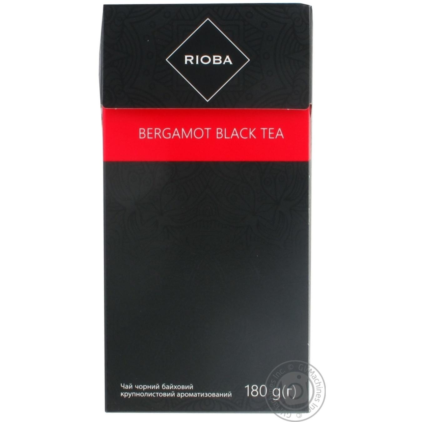 Купить Чай Rioba черный байховый крупнолистовой бергамот 180г