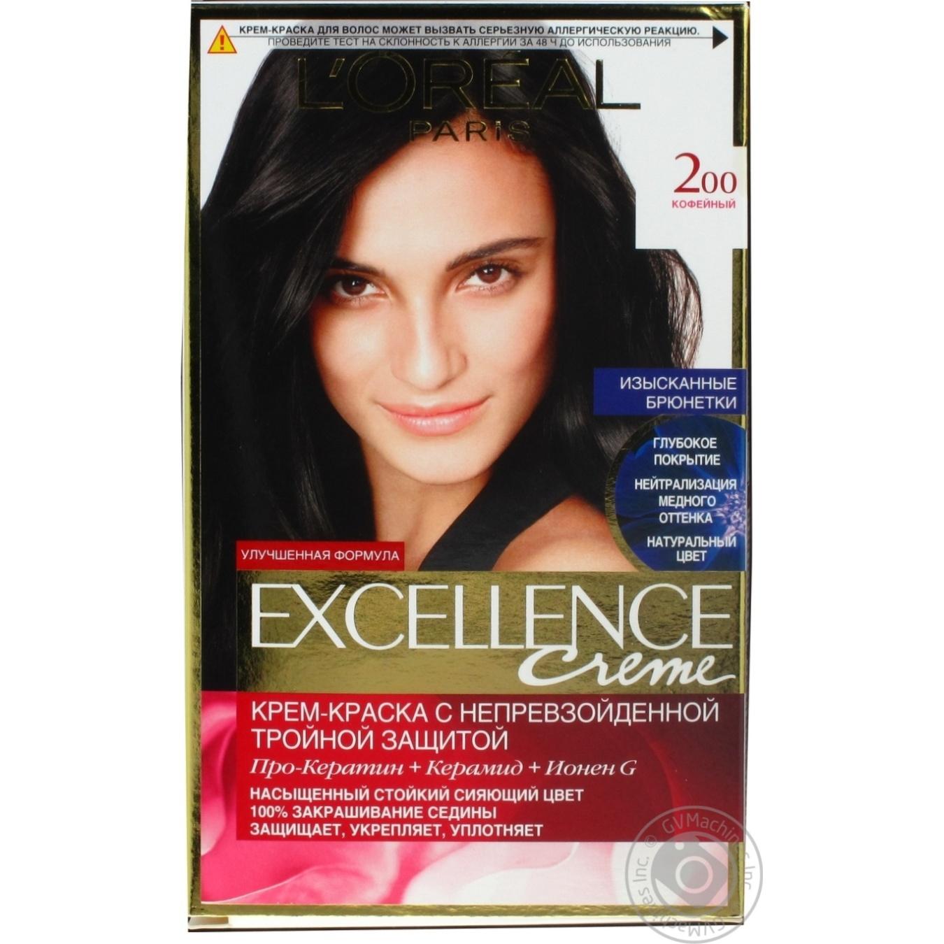 Купить Догляд, Крем-фарба для волосся L'Oreal Excellence Creme 200 кавовий