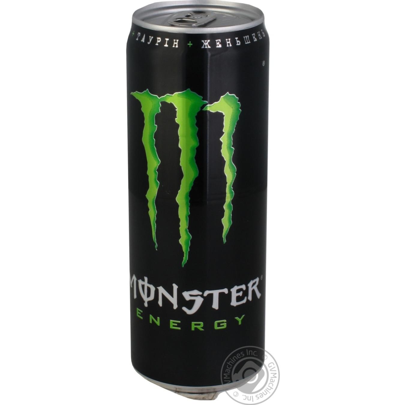 Алкоголь та енергетики, Напій енергетичний Monster Energy 355мл  - купить со скидкой
