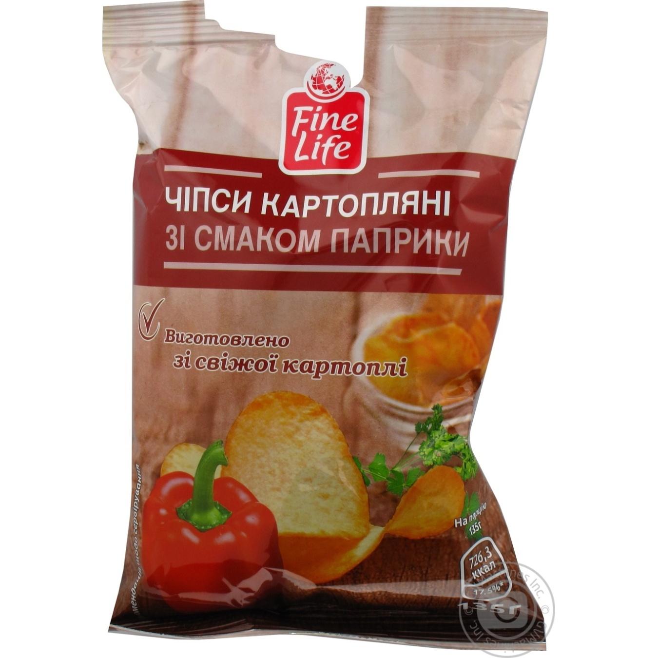 Купить Чипсы Fine Life картофельные со вкусом паприки 135г