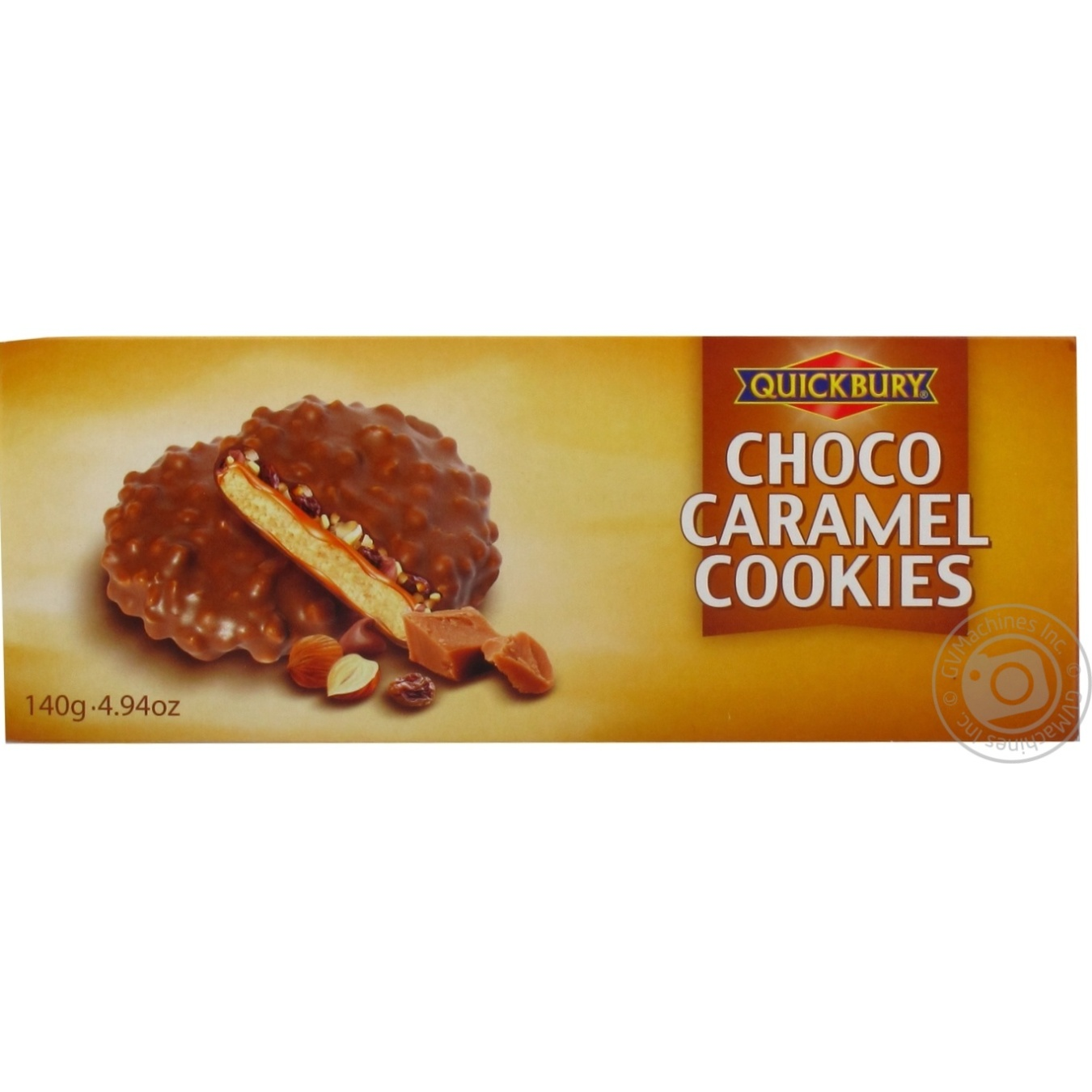 Печиво Quickbury з шоколадною карамеллю 140г
