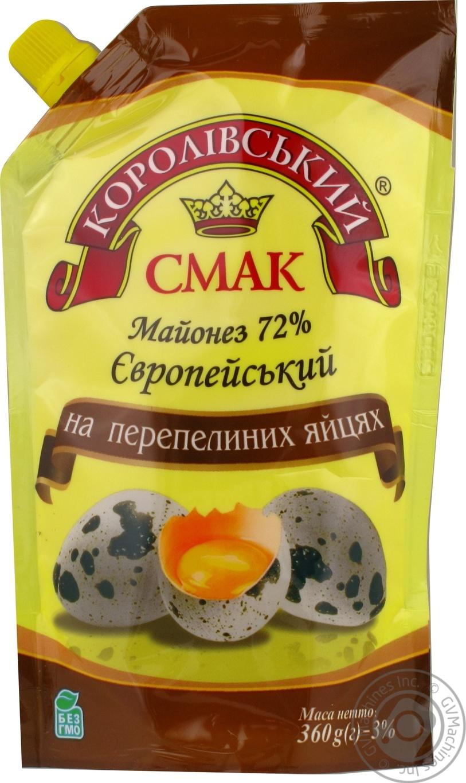 Купить Майонез Королівський смак на перепелиных яйцах 72% 360г