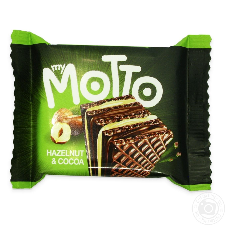 Купить Вафлі Mymotto горіх та какао 34г