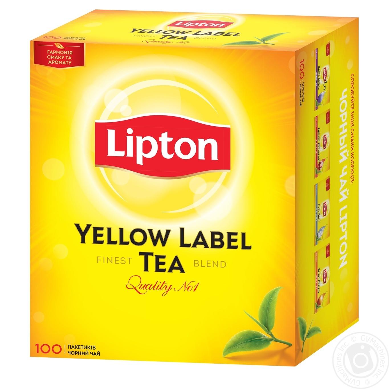 Lipton Yellow Label Черный чай в пакетиках 100шт×2г  - купить со скидкой
