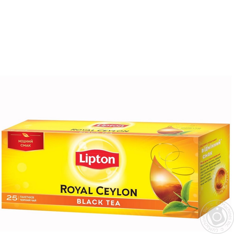 Lipton Чорний чай в пакетиках Royal Ceylon 25шт