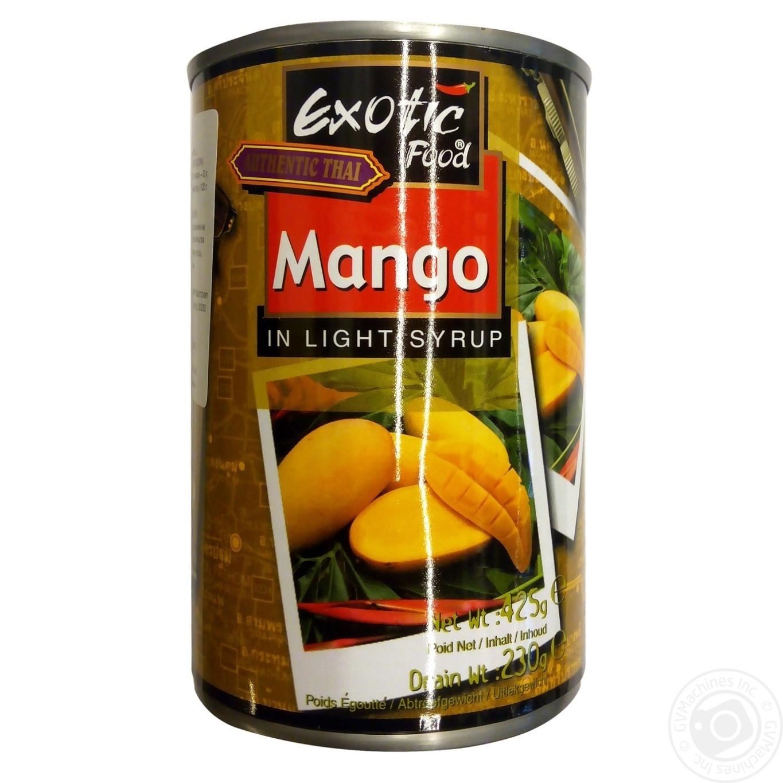 Купить Консервовані фрукти, Фрукти консервовані Exotic Food манго в легкому сиропі 420г