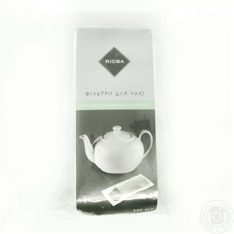 Купить Фільтри для чаю та кави, RIOBA ФІЛЬТР Д/ЧАЙ 75*185ММ 20