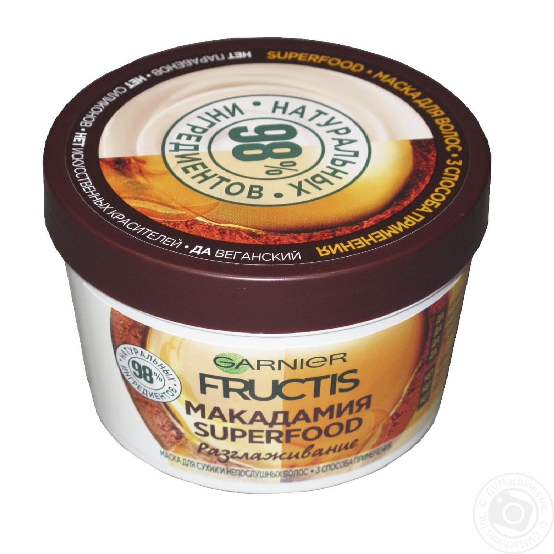 Купить Догляд, Маска Garnier Fructis Superfood Макадамія для неслухняного волосся 390мл