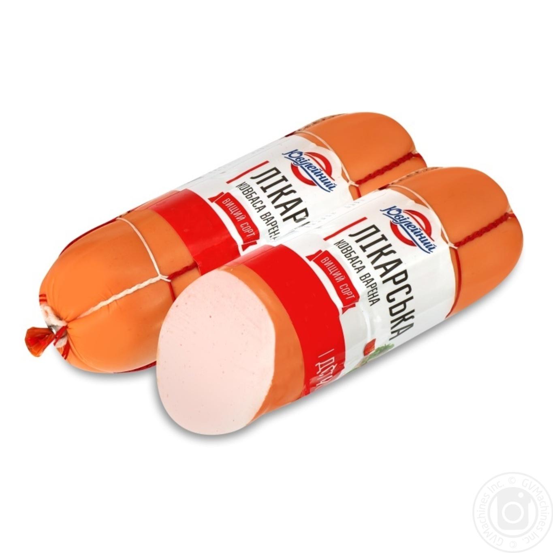 Купить Ковбаса і сосиски, Ковбаса Ювілейний Лікарська варена вищий сорт 400г