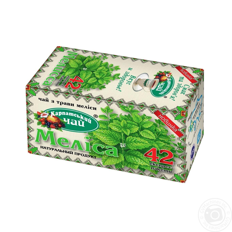 Чай трав'яний Карпатський чай меліса в пакетиках 42х1г