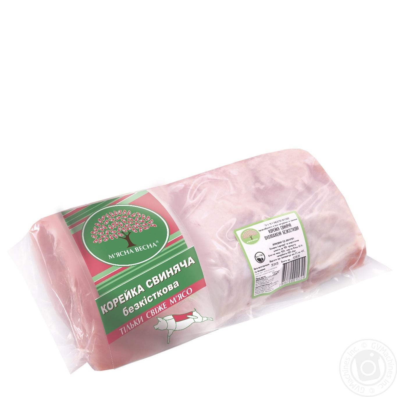 Купить Корейка свинная Мясная весна б/к вакуум от 3000г