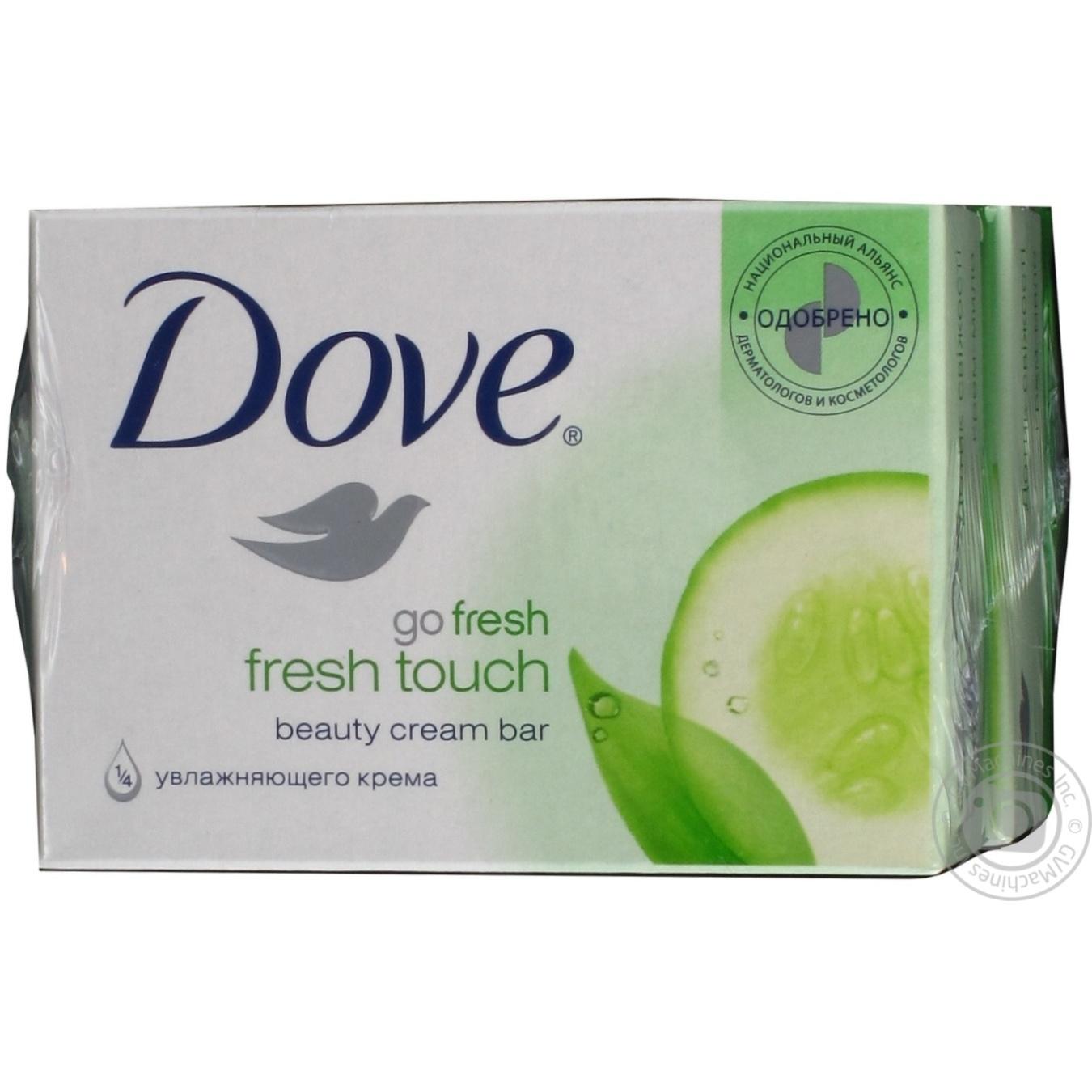 Купить Крем-мыло Dove Прикосновение свежести 135г