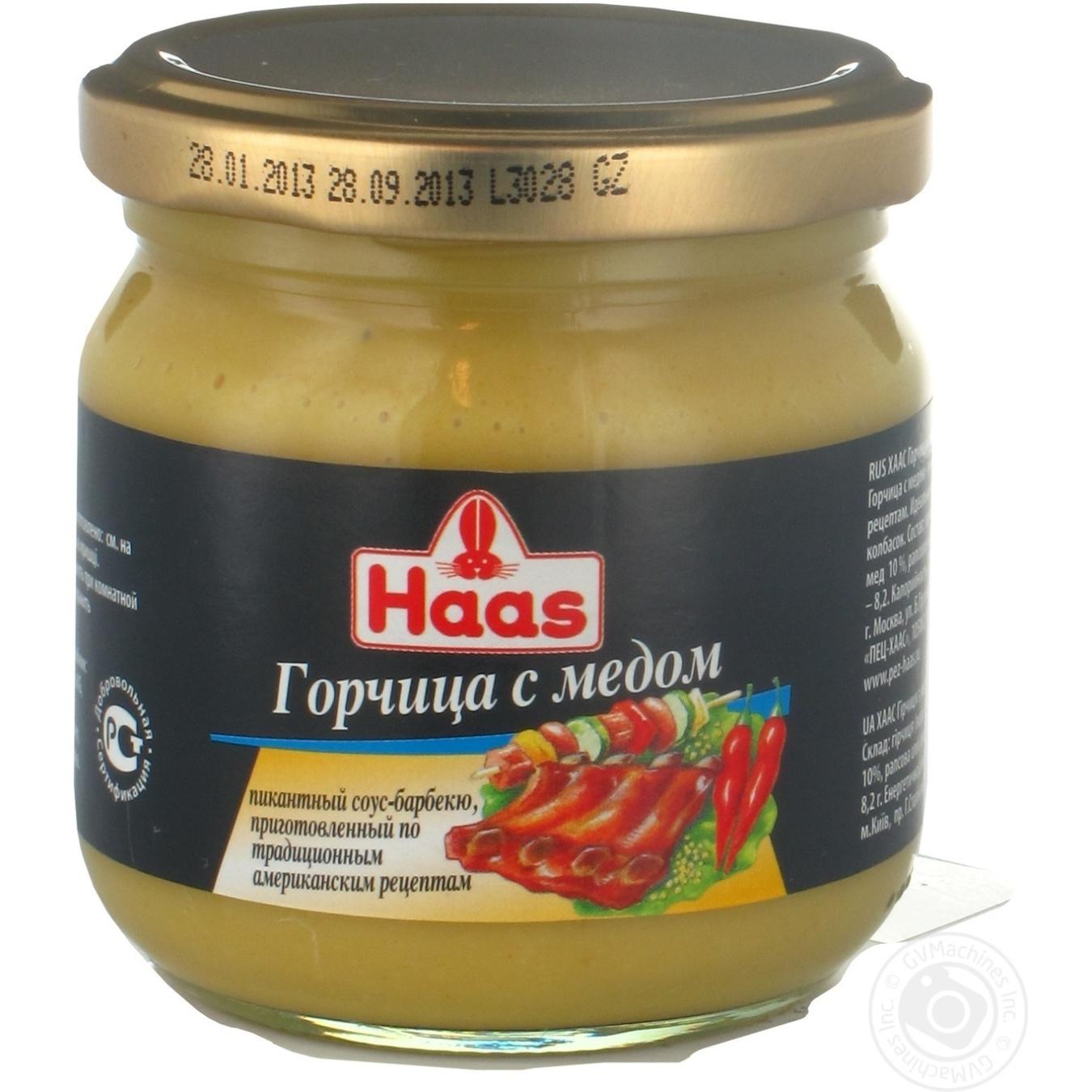 Купить Горчица Haas с медом 215г