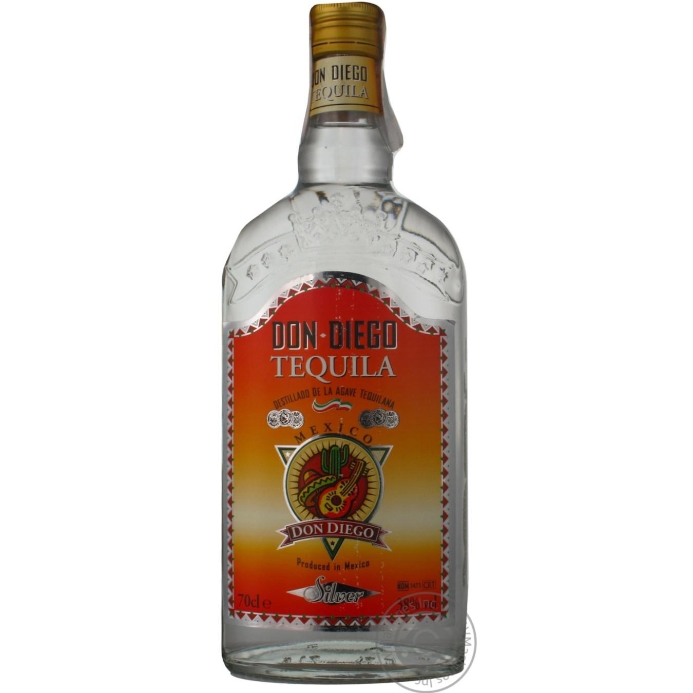 Алкоголь та енергетики, DON DIEGO ТЕКІЛА СІЛЬВЕР 0, 7  - купить со скидкой