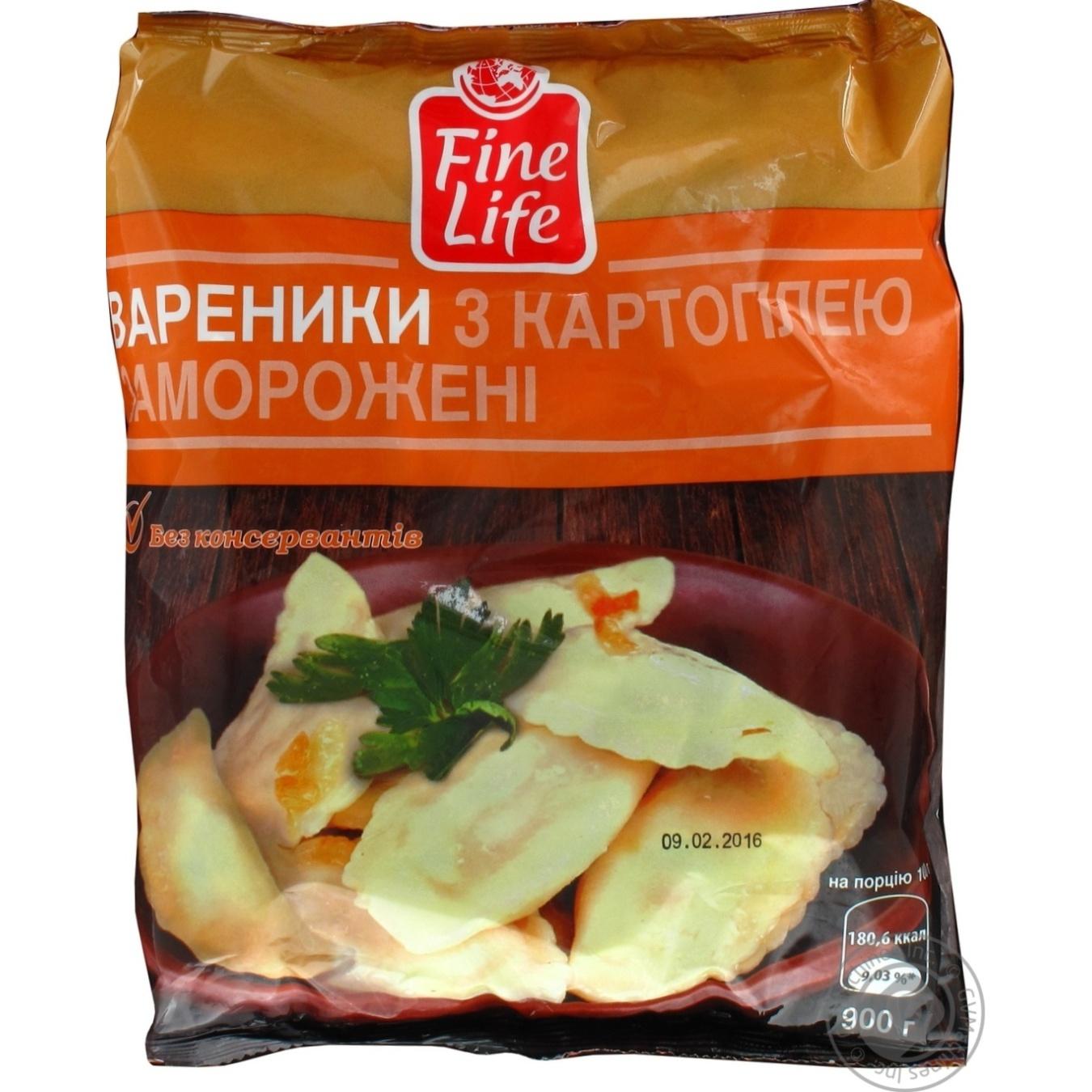 Купить Вареники Fine Life с картофелем замороженные 900г